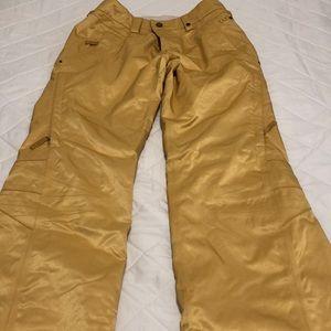 Burton Guard Pant Medium, Women's Gold